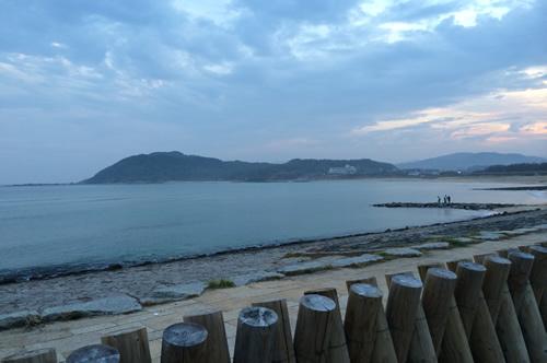 朝の海<a href=