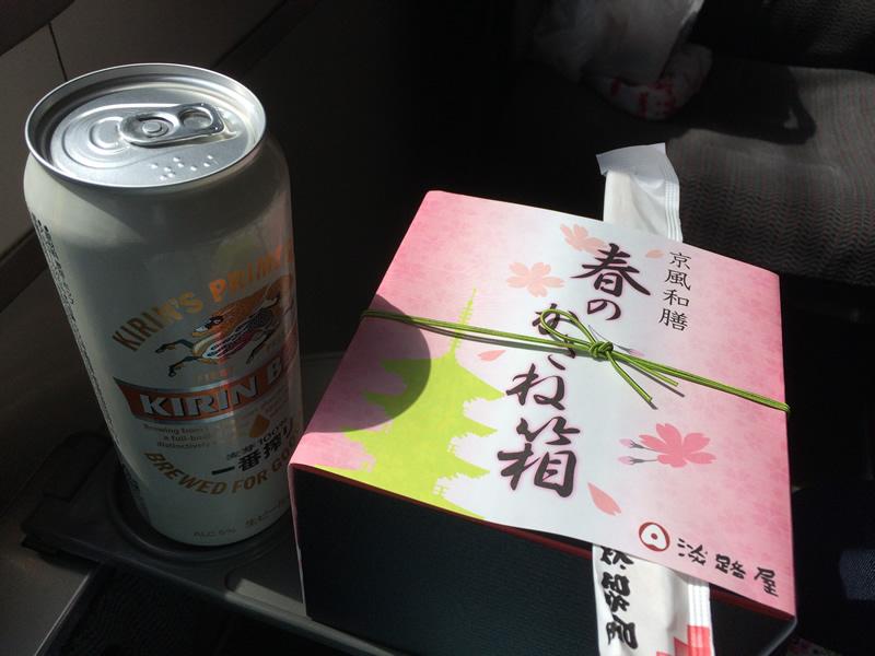 駅弁とビール
